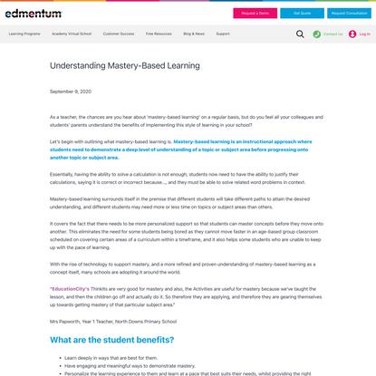Understanding Mastery-Based Learning | Edmentum International