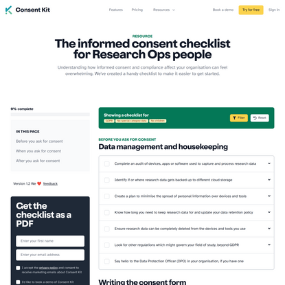 📋 The informed consent checklist for Research Ops people