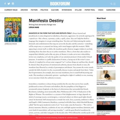 Manifesto Destiny