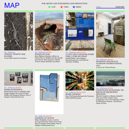 For artist-led publishing and production   MAP Magazine