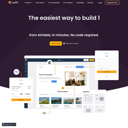 Softr - Build a website, web app or portal on Airtable without code
