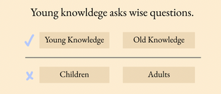 Young knowledge asks wise questions