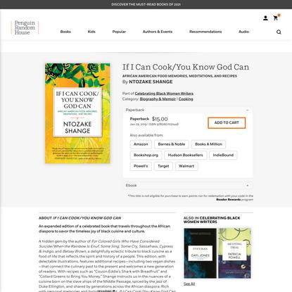 If I Can Cook/You Know God Can by Ntozake Shange: 9780807021446 | PenguinRandomHouse.com: Books