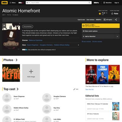 Atomic Homefront (2017) - IMDb