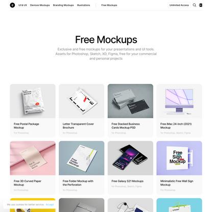 Free Mockups [PSD, Sketch, Figma]