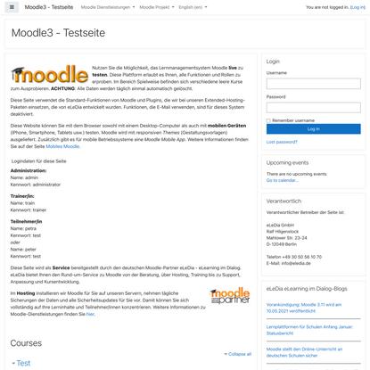 Moodle3 - Testseite