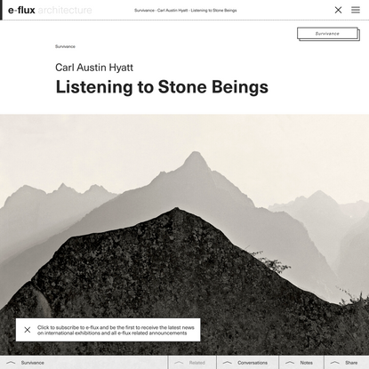 Listening to Stone Beings