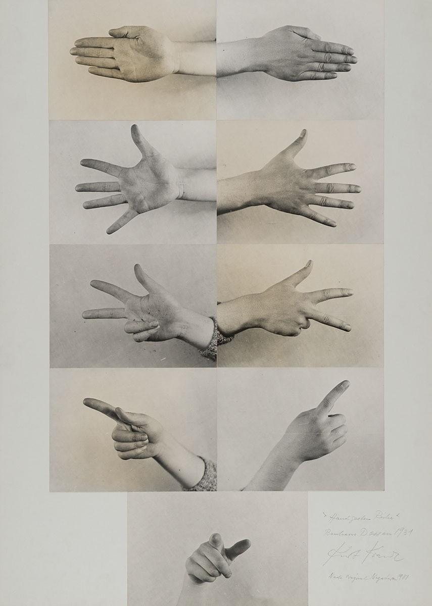 Kurt Kranz :: Handgesten Reihe, collage, 1931. Dessau-Roßlau. | src MK&G ~ Museum für Kunst und Gewerbe (Hamburg)