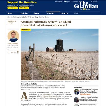 Artangel: Afterness review – an island of secrets that's its own work of art