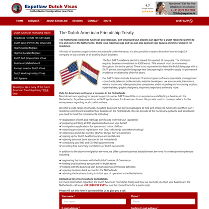 The Dutch American Friendship Treaty
