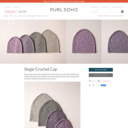 Single Crochet Cap | Purl Soho