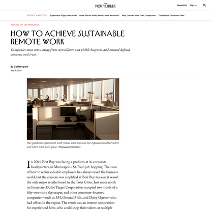 How to Achieve Sustainable Remote Work