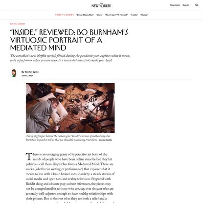"""Inside,"" Reviewed: Bo Burnham's Virtuosic Portrait of a Mediated Mind"