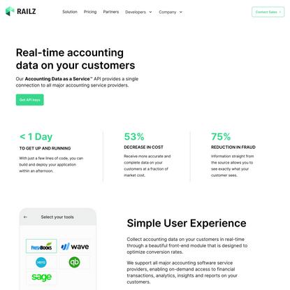 Railz   Real-time Accounting API Integration