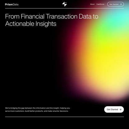 Prism Data — Next-Generation Transaction Intelligence