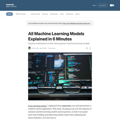 All Machine Learning Models Explained in 6 Minutes