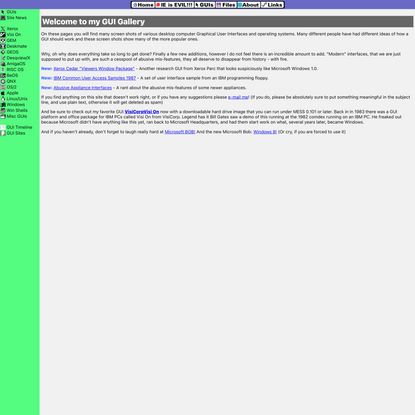Graphical User Interface Gallery