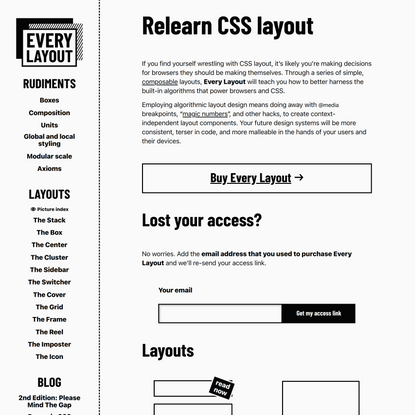 Relearn CSS layout