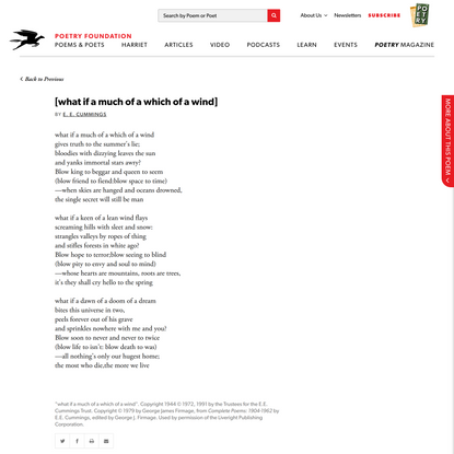 [what if a much of a which of a wind] by E. E.…   Poetry Foundation