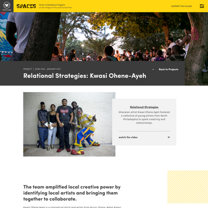 Relational Strategies: Kwasi Ohene-Ayeh – SPACES