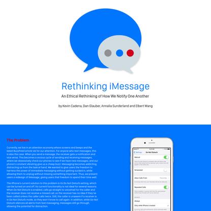 Rethinking iMessage