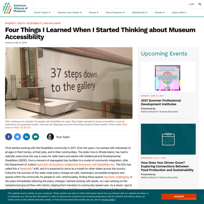 Four Things I Learned When I Started Thinking about Museum Accessibility