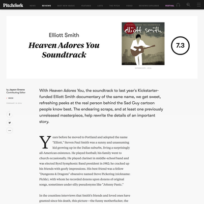 Elliott Smith: Heaven Adores You Soundtrack