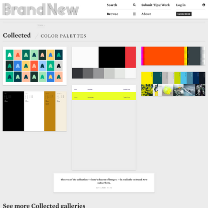 Brand New: Color Palettes