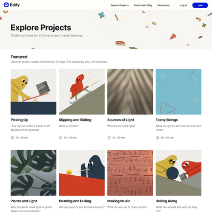 Explore Eddy - A whole new project-based experience for learning.