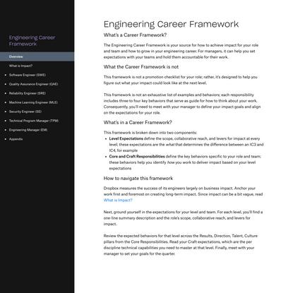 Overview - Engineering Career Framework