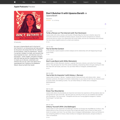 Don't Butcher It with Upasna Barath on Apple Podcasts