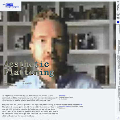 Aesthetic Flattening - A New Design Congress Essay