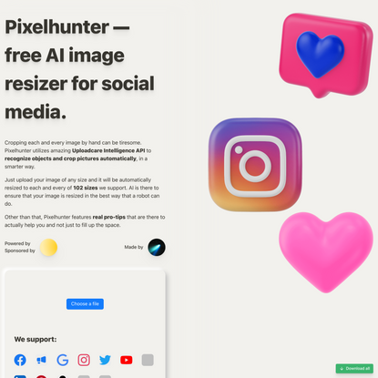 Pixelhunter — 🧠 AI-powered image resizer for social media