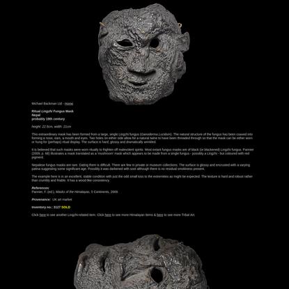Nepalese Lingzhi Fungus Mask