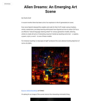 Alien Dreams: An Emerging Art Scene - ML@B Blog