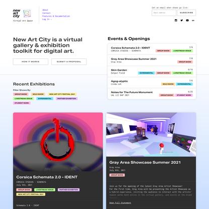 New Art City: Virtual Art Space