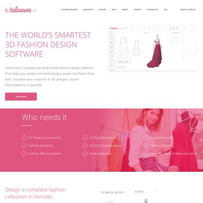 Tailornova | Online clothing design software
