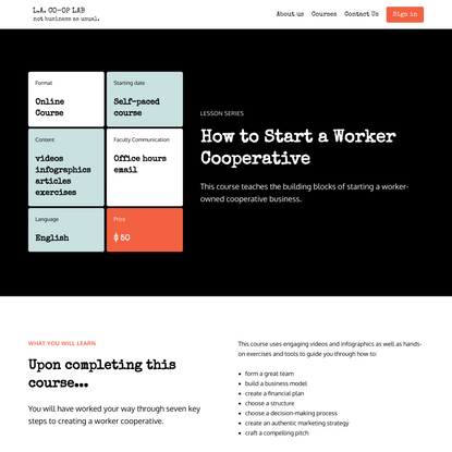 How to Start a Worker Cooperative