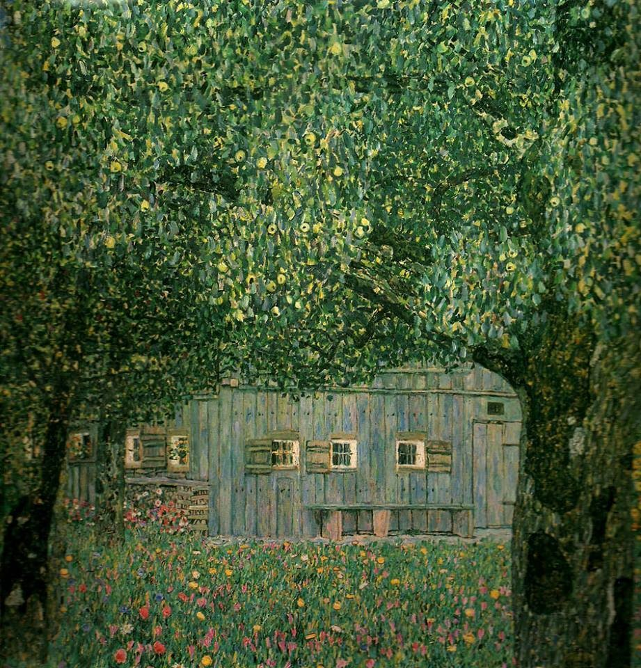 Gustav Klimt, Farmhouse in Upper Austria, 1911