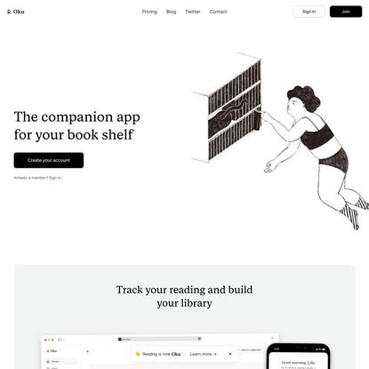 The companion app for your book shelf / Oku