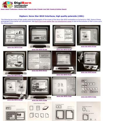 Digibarn: Xerox Star 8010 Interfaces, high quality polaroids (1981)