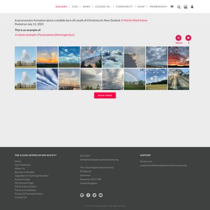 Photo Gallery - Cloud Appreciation Society