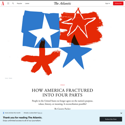 How America Fractured Into Four Parts