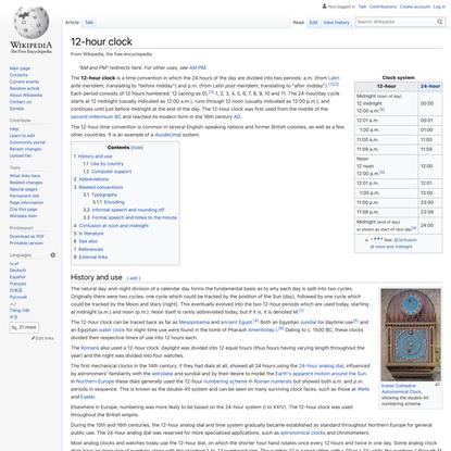 12-hour clock - Wikipedia