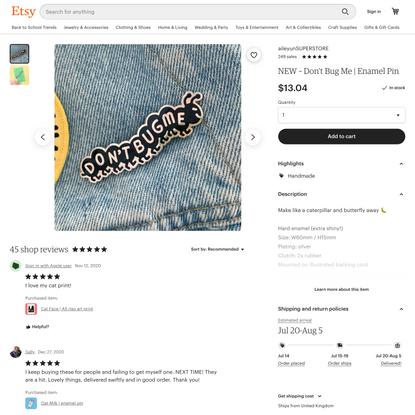 NEW Don't Bug Me Enamel Pin | Etsy