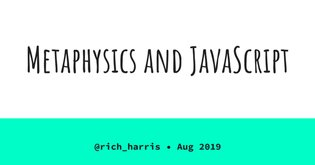 Copy of Metaphysics and JavaScript