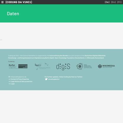 Daten | Coding da Vinci
