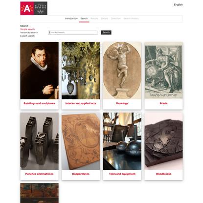 Museum Plantin-Moretus Online Catalogue | Simple search