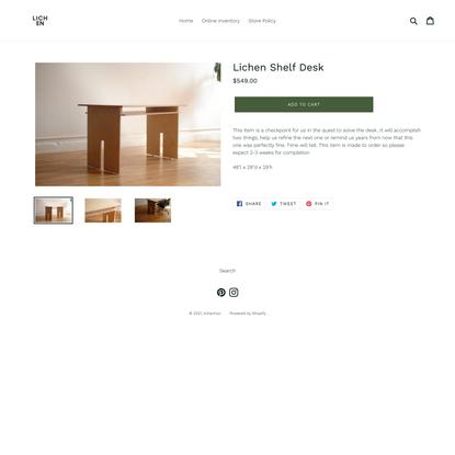Lichen Shelf Desk