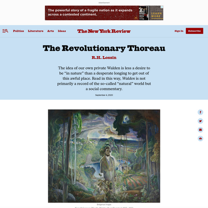 The Revolutionary Thoreau | by R.H. Lossin | The New York Review of Books